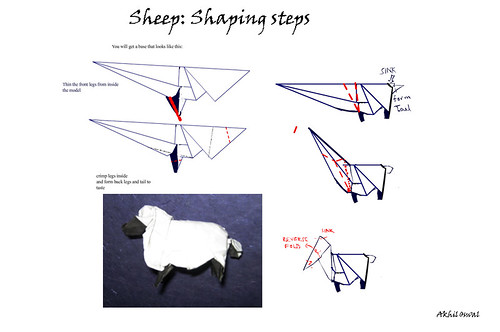 Sheep Origami Choice Image Instructions Easy For Kids