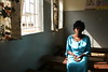Sarah, HIV positive patient, district health clinic, Uganda