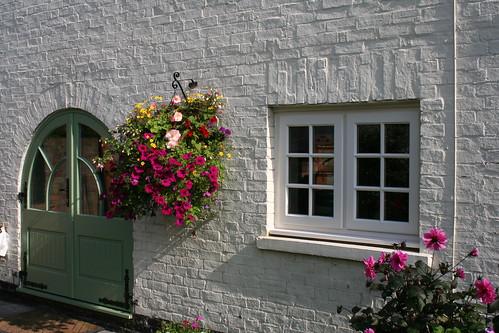 cottage window and door