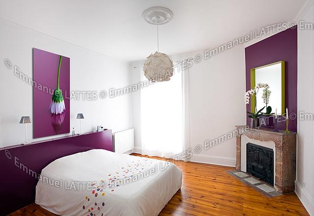Chambre coucher contemporaine dans une maison ancienne - Chambre a coucher contemporaine ...