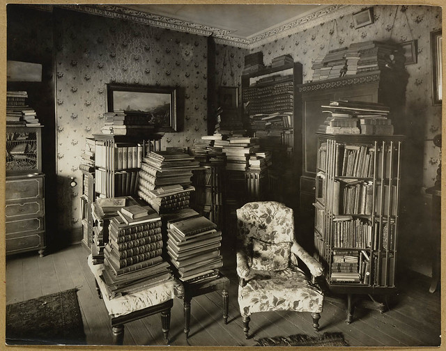Bedroom, David Scott Mitchell's residence, c. 1907, by unknown photographer