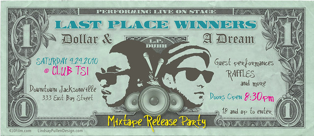 Last Place Winners Mixtape Release Party Flyer