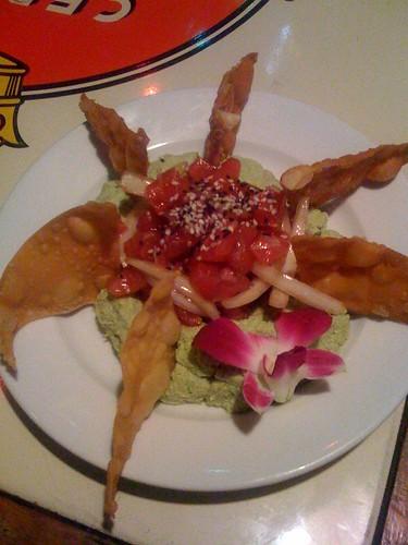 Ahi poke on wasabi edamame at Lulu's Kihei
