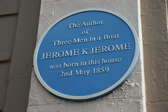 Photo of Jerome K. Jerome blue plaque