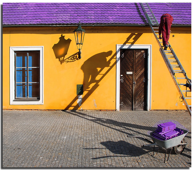 Working among shadows and colours