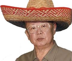 fedora(0.0), cap(0.0), cowboy hat(0.0), cowboy(0.0), costume hat(1.0), clothing(1.0), sombrero(1.0), hat(1.0), adult(1.0), headgear(1.0),