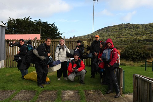 Team on Stewart Island (except Clive Copeman, who was photographing)