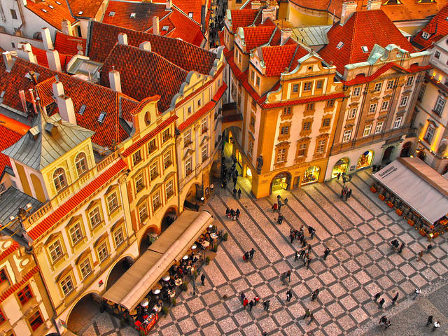 Prague in orange