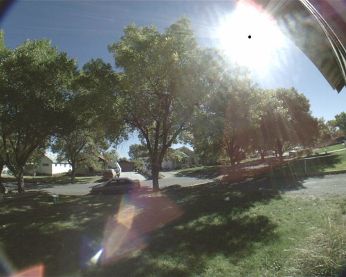 direct sun fisheye