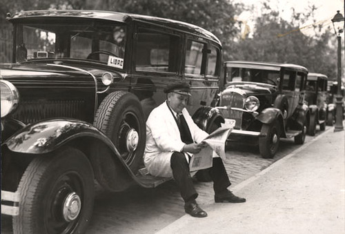 Taxista.Madrid años 50