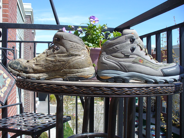 Photo:Garmont Kiowa Vegan hiking boots old and new By JohnGiez-