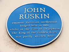 Photo of John Ruskin blue plaque