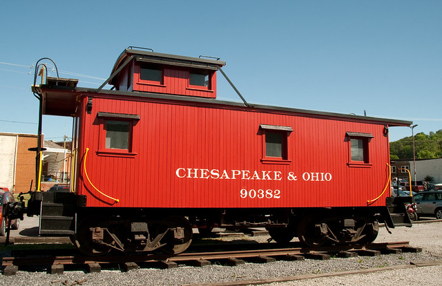 Red Caboose Mail Car With Queen Beds