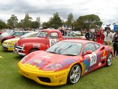 ferrari f40(0.0), ferrari f430(0.0), race car(1.0), automobile(1.0), vehicle(1.0), performance car(1.0), automotive design(1.0), ferrari f430 challenge(1.0), ferrari 360(1.0), ferrari s.p.a.(1.0), land vehicle(1.0), luxury vehicle(1.0), supercar(1.0), sports car(1.0),
