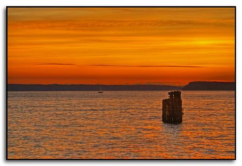 sunset water clouds sailboat washington pugetsound hdr everett portofeverett
