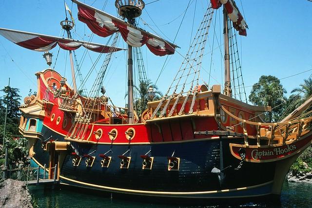 Captain hook s pirate ship at disneyland
