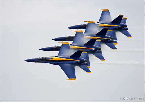 Blue Angels formation by Alida's Photos