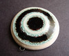 Aqua and Black Recycled glass Pendant by artisanclay