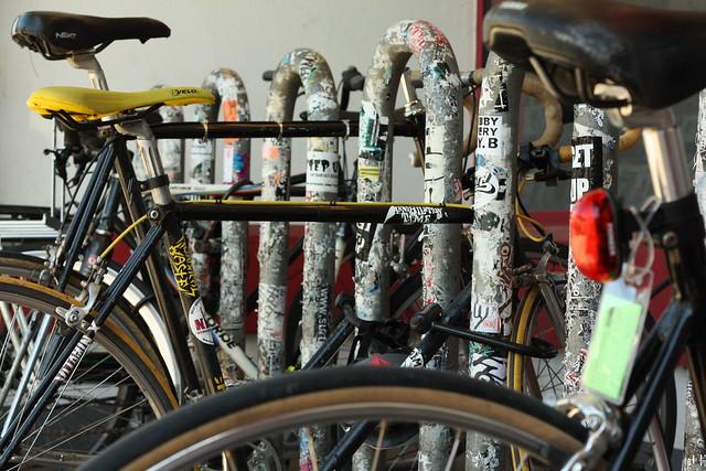 Record Store Bike Rack