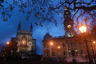 Dunedin Town Hall and St Paul's Cathedral