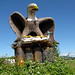 Giant spray foam eagle