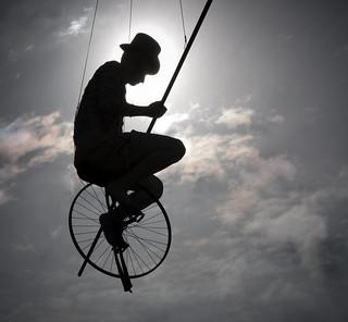 Brisbane Unicycle Silhouette