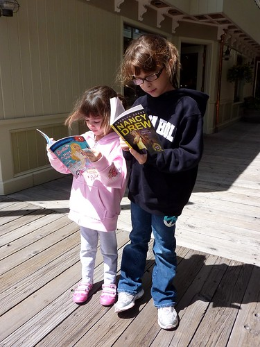 Reading on a Street Corner
