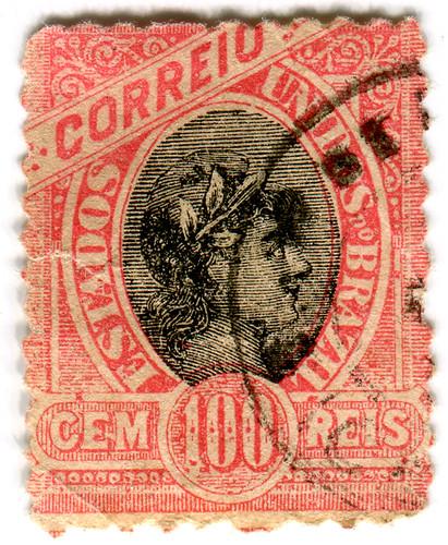 Brazil postage stamp: red Correio by karen horton
