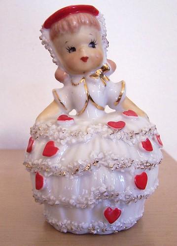 Vintage Lefton Valentine Girl Bell by MissConduct*