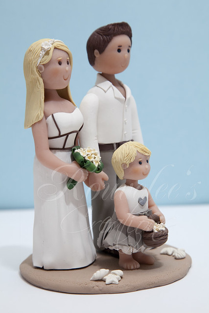 Beach Theme Wedding Cake Topper Made this for a couple who are having their
