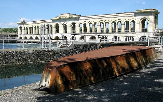 Somma Lombardo (Varese) - Diga del Panperduto, origine del canale Villoresi