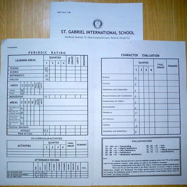 ontario report cards grade 1 pdf