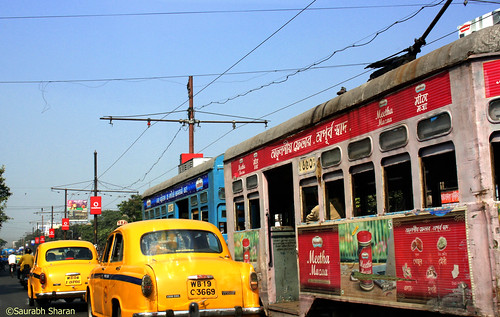 Yellow Ambassadors and Tram Rule the Calcutta tradition and the Roads by saish746