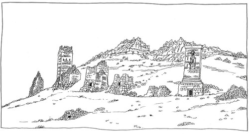 syria syrie palmyra palmyre sketch drawing dessin croquis urbansketch urbansketcher urbansketchers carnetdevoyage