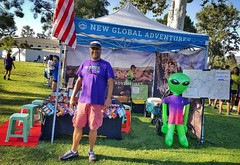 Our set up today promoting @spacerocktrailrace at the Santa Clarita Independence Day 5K and 10K.