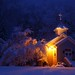 West Virginia Country Church Morning Snow Storm by www.ForestWander.com