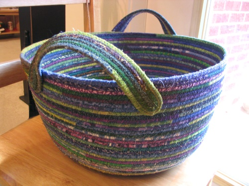 Fabric Basket - Blue, Purple & Green | Flickr - Photo Sharing!