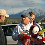 Jason Rosenbaum (center) figuring a sale at the 2005 Colorado Open in Glenwood Springs.