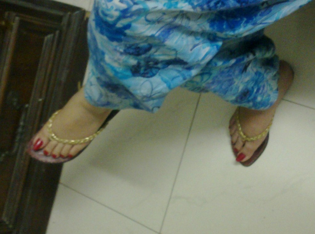 Indian aunty feet remarkable