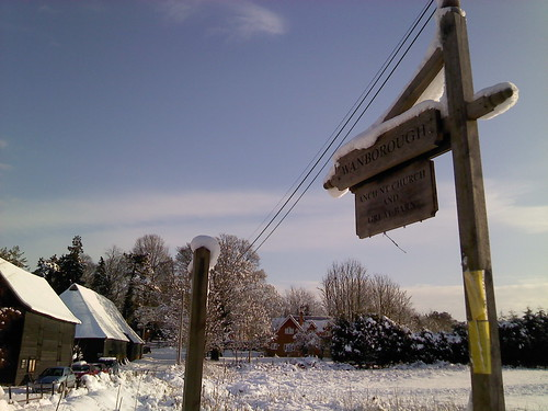 Wanborough in the snow
