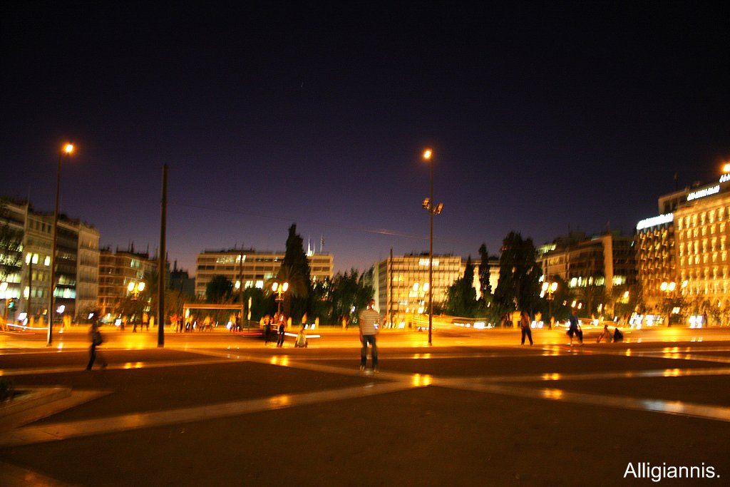 Athens at night.