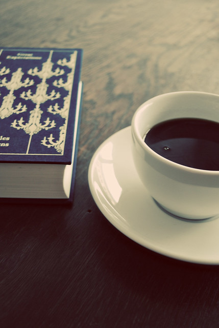 coffee cup  book flickr photo sharing
