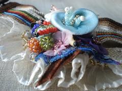 Fervor ... Freeform Crochet Cuff
