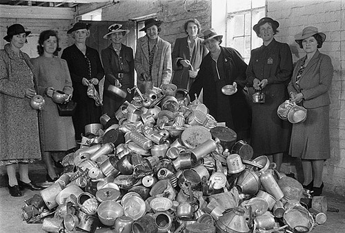 Collection of scrap aluminium in Welshpool by the Women's Voluntary Service