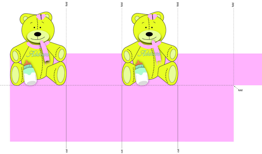Baby Bear Presentation Box Pattern