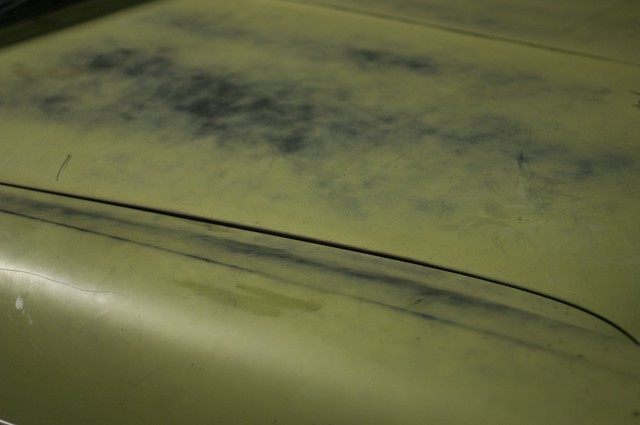 1956 Chevy Bel Air hood patina