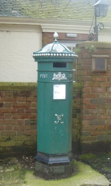 Green postbox Haslemere
