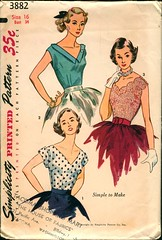 simplicity blouse 3882, 1952