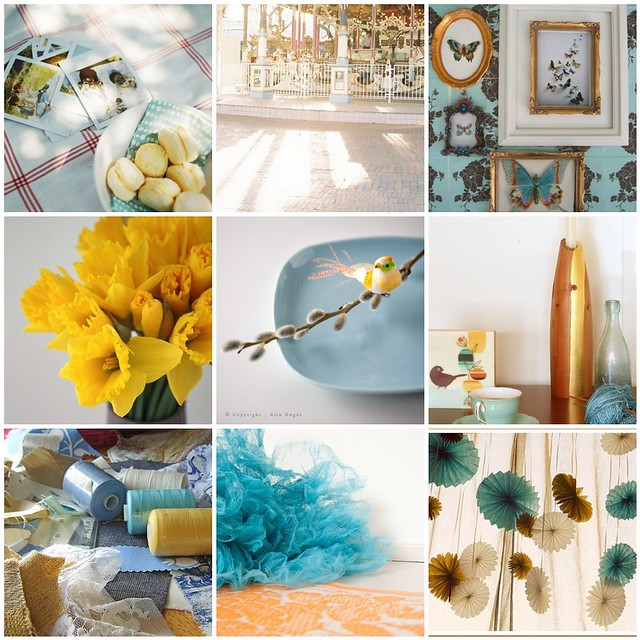 spring sunshine, Flickr mosaic curated by Emma Lamb