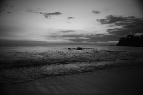 ocean sunset sky blackandwhite water costarica waves ngcr 5dmkiic2